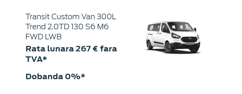 Oferta persoane juridice Ford Custom Van