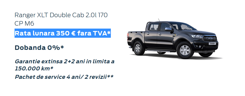 Oferta Ford Ranger XLT