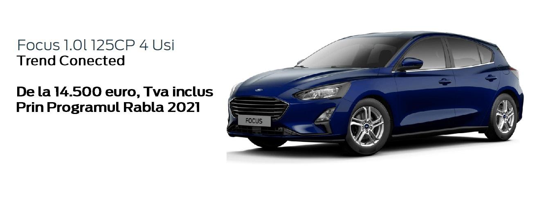 Ford Focus de la 14.500 euro, Tva inclus, prin Programul Rabla 2021