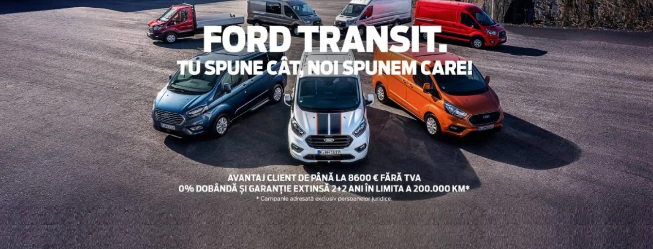Promotie Autovehicule comerciale Ford dedicata persoanelor juridice