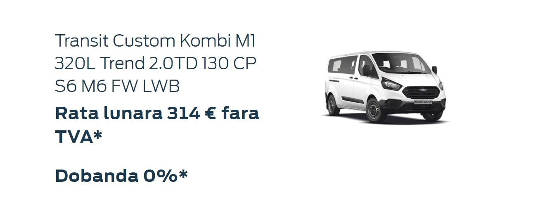 Oferta persoane juridice Ford Custom Kombi