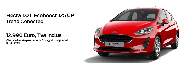 Oferta speciala Ford Fiesta prin Programul Rabla 2021