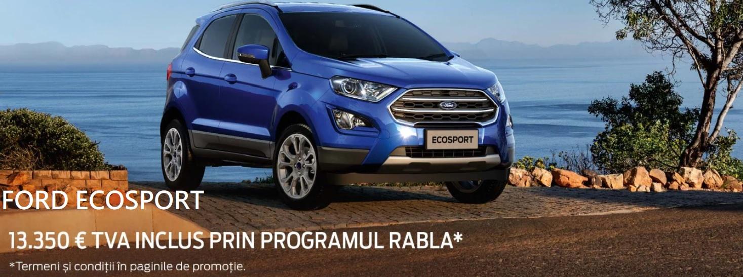Ford Ecosport la pret special prin Programul Rabla